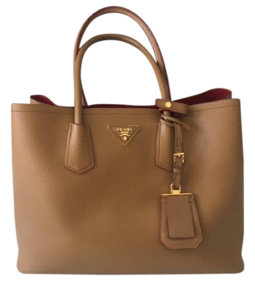 34cef9b59748 Prada Double Cuir Medium Caramello Saffiano Leather Satchel - Tradesy