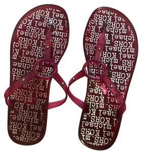 Michael Kors cranberry red Sandals