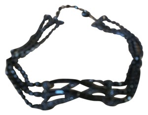 R.J. Graziano Fabulous jet black choker necklace multi strand