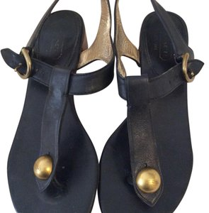 Coach Leather Sabdals black Sandals