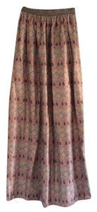 Liberty Boot Co. Maxi Skirt Purple multi
