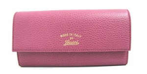 Gucci New Gucci Swing Continental Wallet Rose Leather