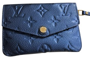 Louis Vuitton Monogram Empriente Key Pouch Cles in Midnight Blue--(Rare)