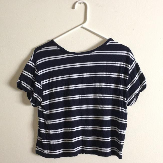 Forever 21 T Shirt Blue/White