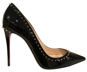 Christian Louboutin Anjalina Spike Stiletto Patent Leather black Pumps