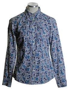 Boden Button Down Shirt Blue Multi