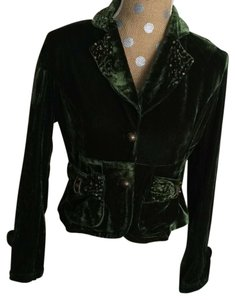 Cacharel Crushed Velvet Green Blazer