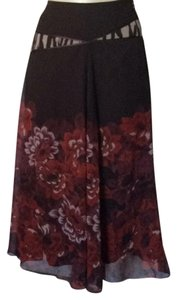 Coldwater Creek Cold Water Creek Zebra Maxi Skirt brown red