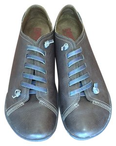 Camper Peu Leather Sneakers Rubber Soles Dark Grey Athletic