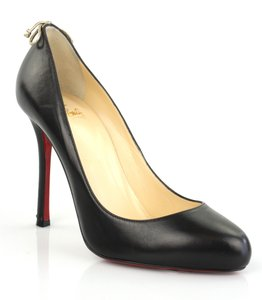 Christian Louboutin Very Gemma Stiletto Leather Classic Black Pumps
