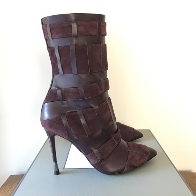 Tom Ford Red Purple Woven Leather 105mm Wine Color Boots/Booties Size US 6.5 Regular (M, B) Tom Ford Red Purple Woven Leather 105mm Wine Color Boots/Booties Size US 6.5 Regular (M, B) Image 11