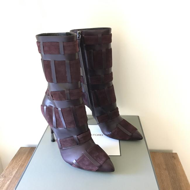 Tom Ford Red Purple Woven Leather 105mm Wine Color Boots/Booties Size US 6.5 Regular (M, B) Tom Ford Red Purple Woven Leather 105mm Wine Color Boots/Booties Size US 6.5 Regular (M, B) Image 12