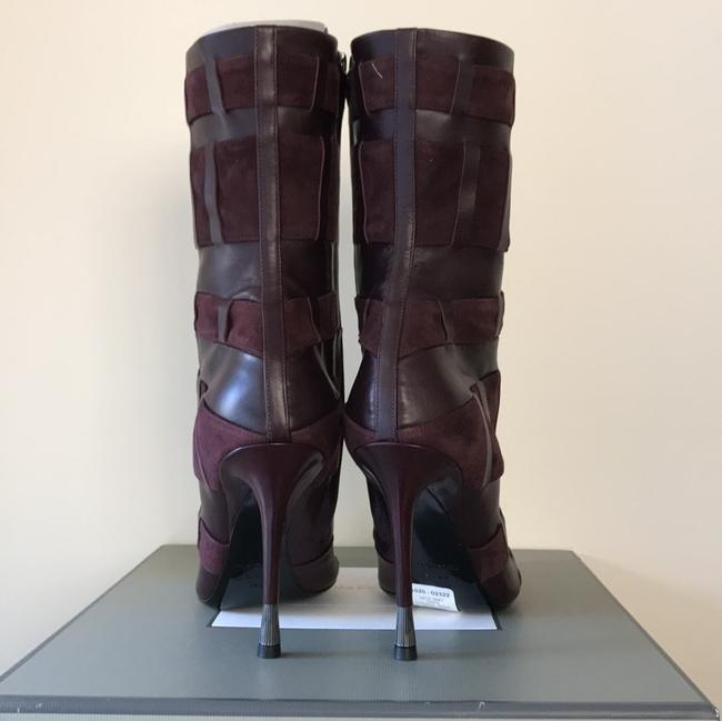 Tom Ford Red Purple Woven Leather 105mm Wine Color Boots/Booties Size US 6.5 Regular (M, B) Tom Ford Red Purple Woven Leather 105mm Wine Color Boots/Booties Size US 6.5 Regular (M, B) Image 6