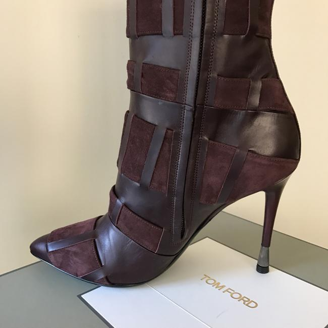Tom Ford Red Purple Woven Leather 105mm Wine Color Boots/Booties Size US 6.5 Regular (M, B) Tom Ford Red Purple Woven Leather 105mm Wine Color Boots/Booties Size US 6.5 Regular (M, B) Image 8