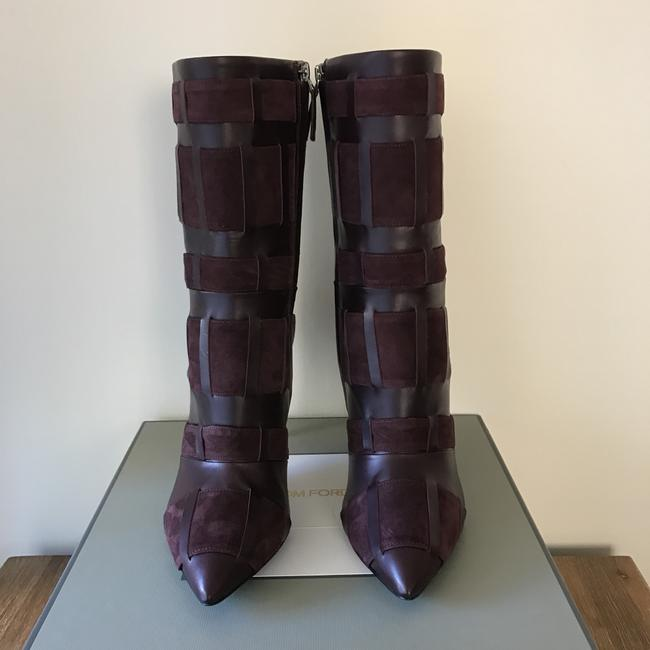 Tom Ford Red Purple Woven Leather 105mm Wine Color Boots/Booties Size US 6.5 Regular (M, B) Tom Ford Red Purple Woven Leather 105mm Wine Color Boots/Booties Size US 6.5 Regular (M, B) Image 9