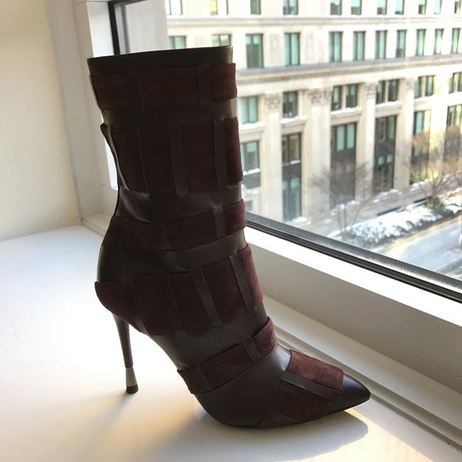 Tom Ford Red Purple Woven Leather 105mm Wine Color Boots/Booties Size US 6.5 Regular (M, B) Tom Ford Red Purple Woven Leather 105mm Wine Color Boots/Booties Size US 6.5 Regular (M, B) Image 10