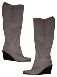 Aerosoles Silver Wedge Boots