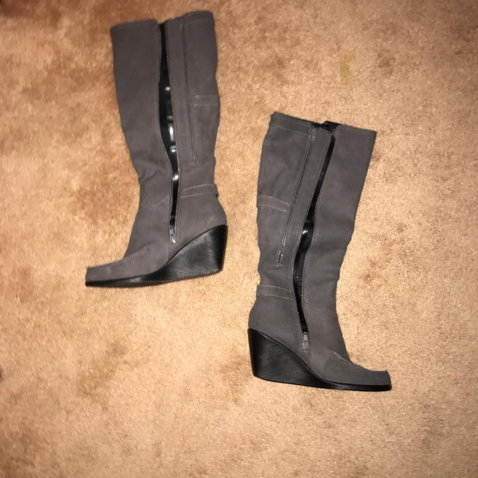 86a4d27daa7a Aerosoles Grey Wedge Boots Booties Size US 8 Regular (M