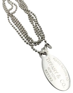 Tiffany & Co. Vintage RETURN TO TIFFANY Oval Tag Long Bead Necklace M25592 5D212