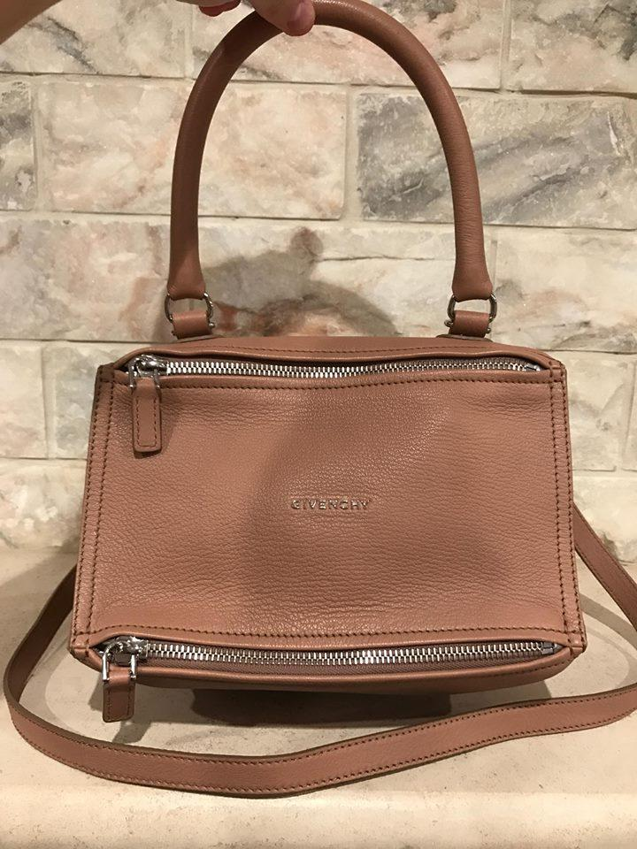 1738cd284df Givenchy Box Pandora Nude Sugar Shoulder Beige Leather Cross Body ...