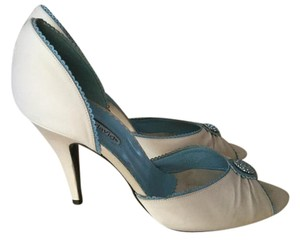 Charles David Bridal Cream Bridal Heel Something Blue Cream, blue Formal