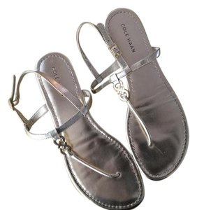 Cole Haan Gold Dressy Flat Gold Sandals