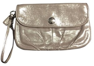 Coach gold shimmer Clutch