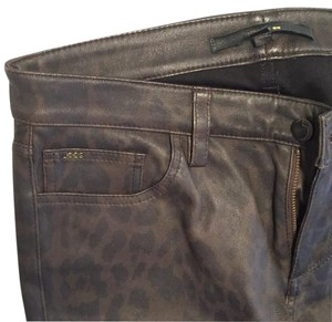 JOE'S Jeans Skinny Pants black and brown hint of cheetah/ leopard print