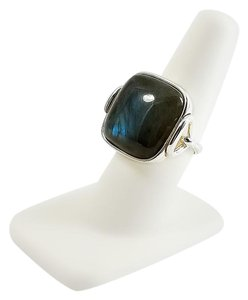 Milor Sterling Labradorite Ring Size 8