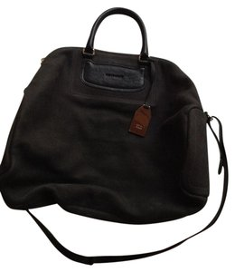 See by Chloé Leather Satchel in Black/ off black
