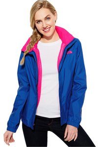 The North Face The North Face Women's Jacket Resolve Zip-Up Waterproof, Blue/Pink, L