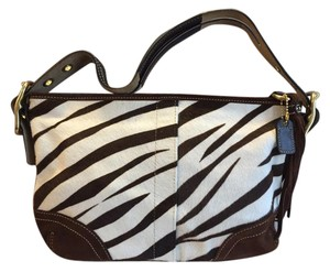 Coach Haircalf Zebra Shoulder Bag