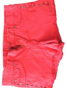 Hudson Jeans Cut Off Shorts Red
