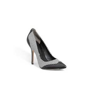 Rachel Roy Black and White Houndstooth Pumps