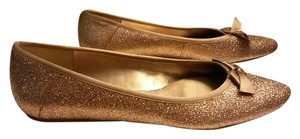 Nine West Metallic Bronze Flats