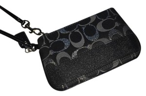 Coach Wristlet in Black/Metallic