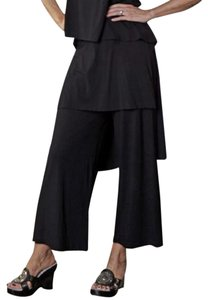 Bryn Walker Wrap Skirted Cropped Capri/Cropped Pants black