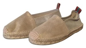 Penelope Chilvers Espadrille Leather Champagne/Silver Sandals