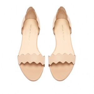 Loeffler Randall Leather Scalloped Wheat Flats