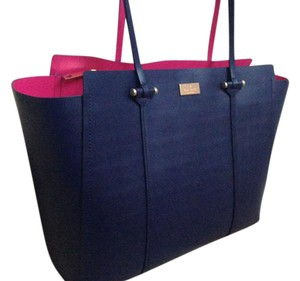 Kate Spade Tote in Blue and Hot Pink