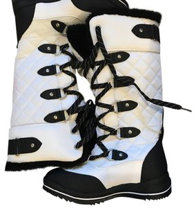 ALDO Black and White Boots
