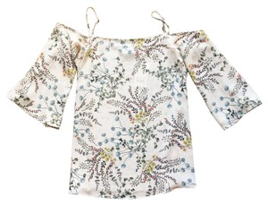 Bailey 44 Open Shoulder Floral Print Top Blush