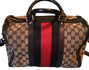 Gucci Satchel in navy blue, red