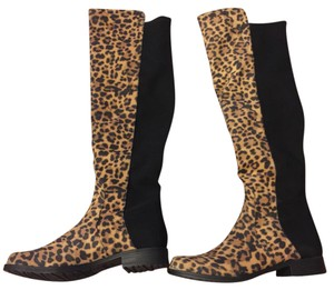 Unisa Black and Leopard Boots