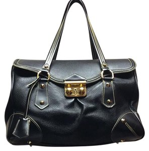 Louis Vuitton Suhali Absolu De Voyage Purse Satchel in black