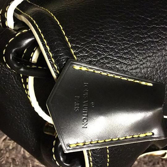 Louis Vuitton Suhali Absolu De Voyage Purse Satchel in black Image 5