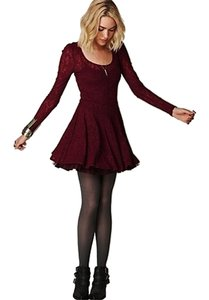 Free People Lace Sleeves Dress