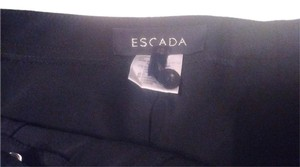 Escada Silk Wool Elegant Timeless Straight Pants Black