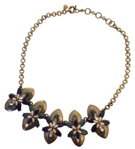 J.Crew Teal stone flower necklace