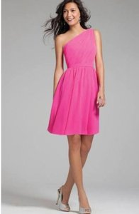 Alfred Angelo Fushia One Shoulder Style 72435 Dress